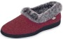 ACORN Women's Faux Chinchilla Collar Slipper Red Thumb
