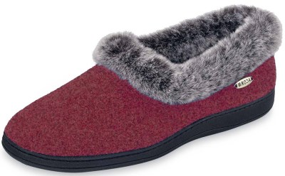 ACORN Women's Faux fur chinchilla Collar Slipper Review