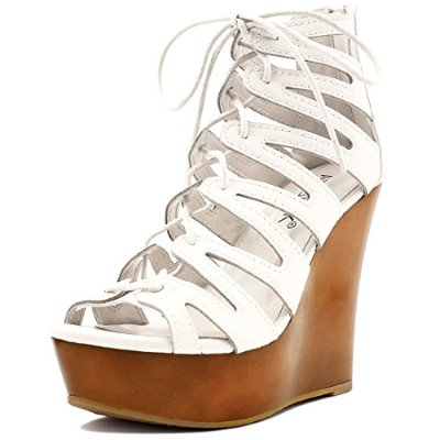 Allegra K Woman Lace-Up Cutout Open Toe Wedge Sandal Review