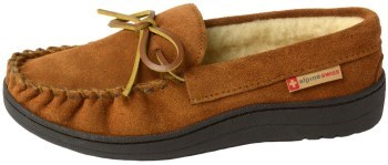 Alpine Swiss Sabine Womens Suede Shearling Slip On Moccasin Review