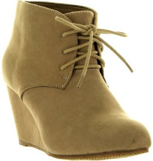 Anna Sally-5 Womens Adorable Almond Toe Lace Up Wedge Ankle Bootie Review