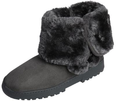Beverly Rock Womens Faux Suede Fur Lined Pom Pom Boot