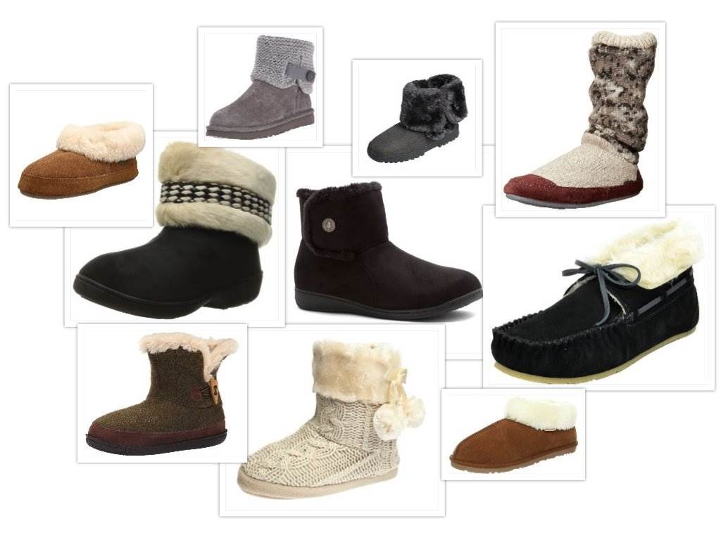 Bootie Slippers Hard Sole collage