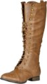 Breckelle's Outlaw Women's Lace Up Knee High Riding Boot Thumb