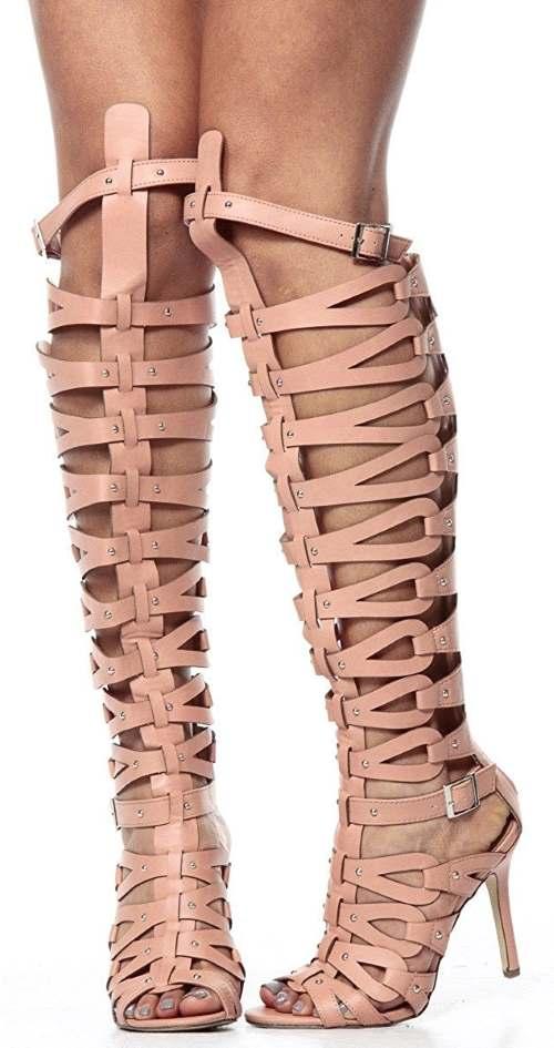 Breckelle's Women's Diva-31 Gladiator High Heel Sandals