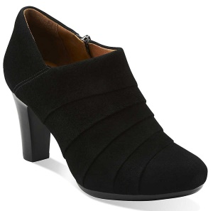 Clarks Womens Suede Solid Booties