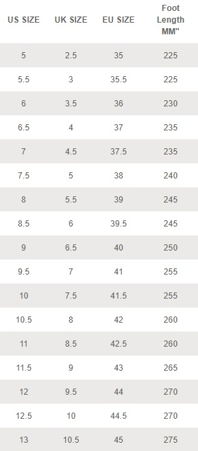 Clarks Shoe Size Chart