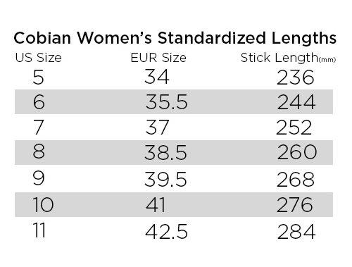 Conbian Size Chart