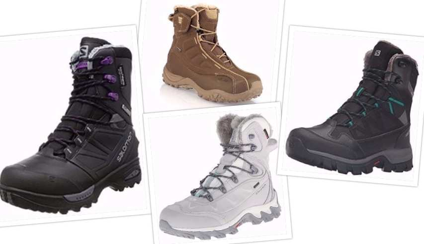 Collage Top 4 Salomon Women Boots for Cold Winter