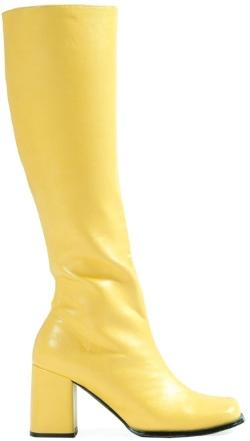 yellow knee high boot