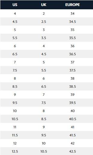 Dr. Scholl's Women's Shoes Size Chart