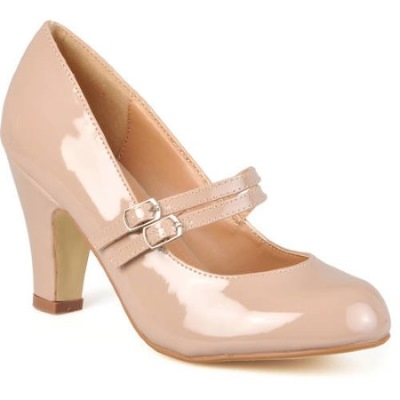 Journee Collection Womens Mary Jane Faux Leather Pump Review