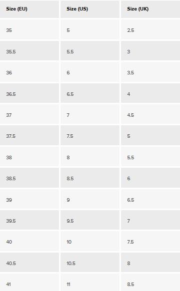 Lauren Ralph Lauren Women's Shoe Size Chart