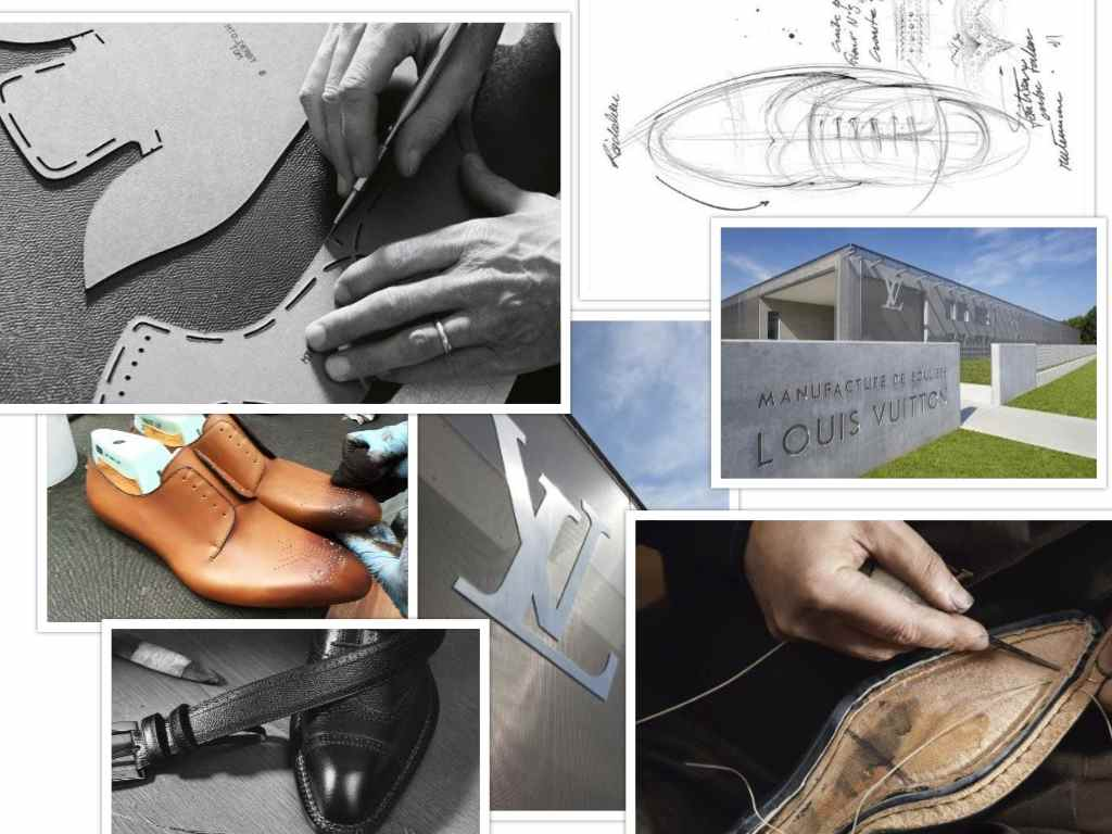 Louis Vuitton manufacture collage