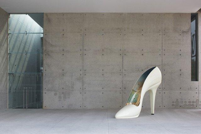 big heeled shoe