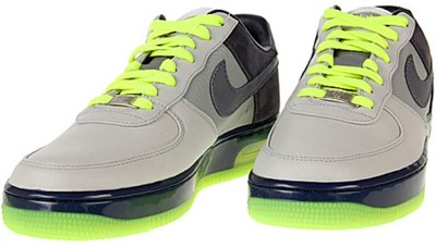 nike green gray sneakers