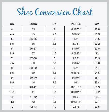 Nurse Mates women's size chart