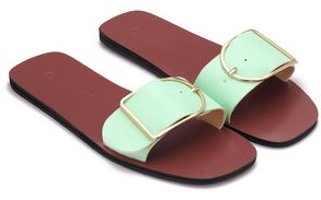 slippers with buckles