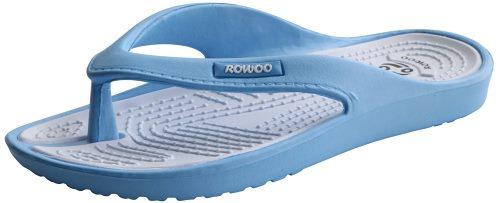 ROWOO Women EVA Toe Post Lightweight Flip Flops Beach Sandals