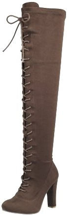 SNJ Women's Over Knee High Block Chunky Heel Boot Review