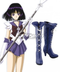 cosplay blue high boots