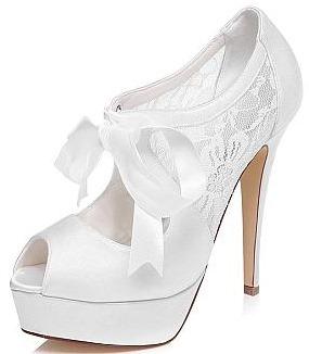 Peep Toe Stiletto wedding Heel