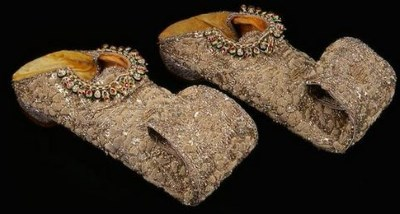 slippers with jewelry