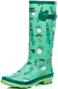 SPYLOVEBUY KARLIE Flat Festival Wellies Wellington Knee High Rain Boot Review