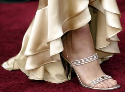 platinum diamond heeled sandal