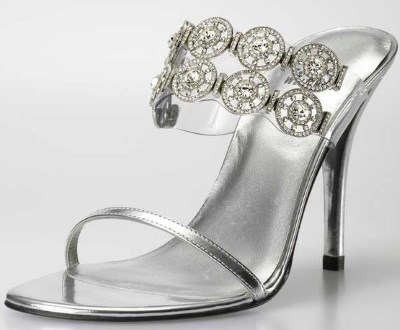 diamond stiletto sandal