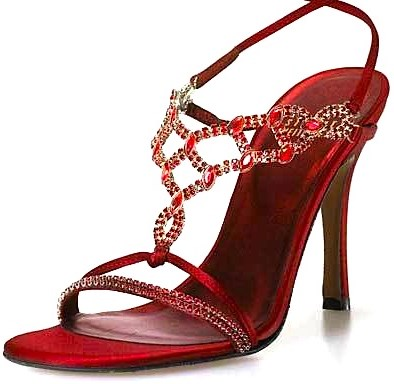 red stiletto jewelry sandal