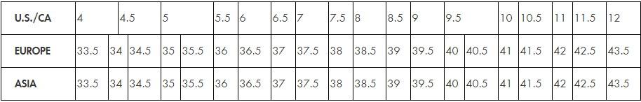 Stuart Weitzman Women's Shoe Size Chart