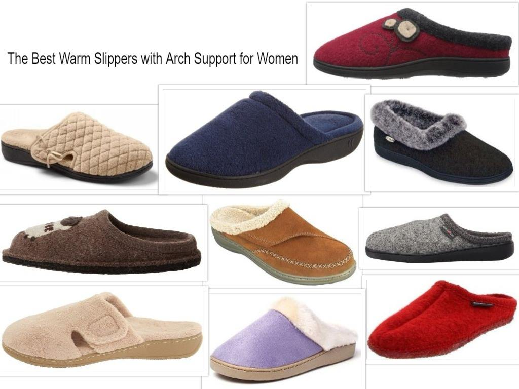 Warm Slippers with Arch Support