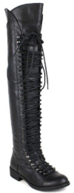 Travis 05 Women Military Lace Up Thigh High Combat Boot