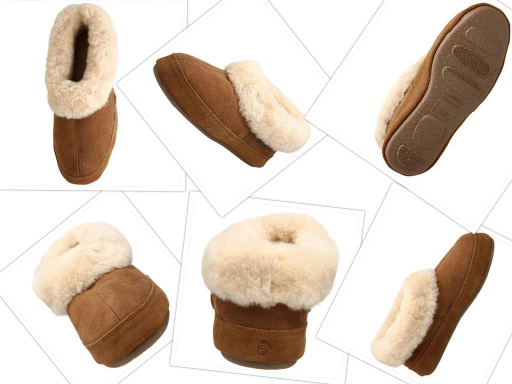 acorn womens oh ewe II slipper collage