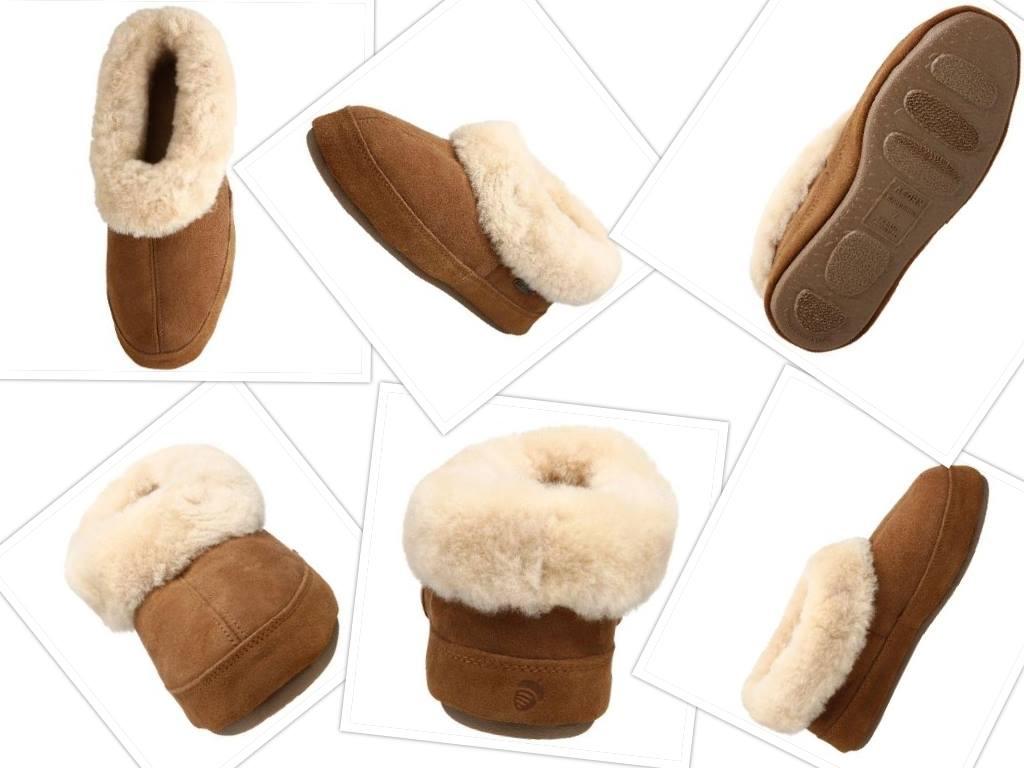 acorn womens oh ewe II slipper collage