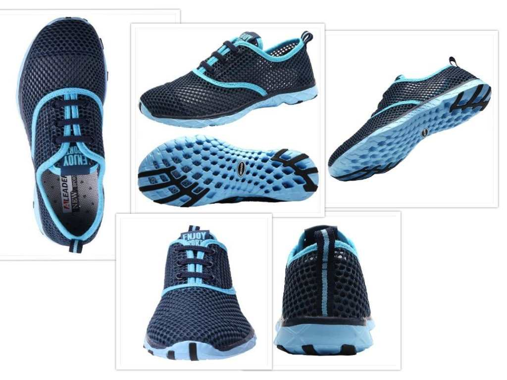 aleader water shoes collage