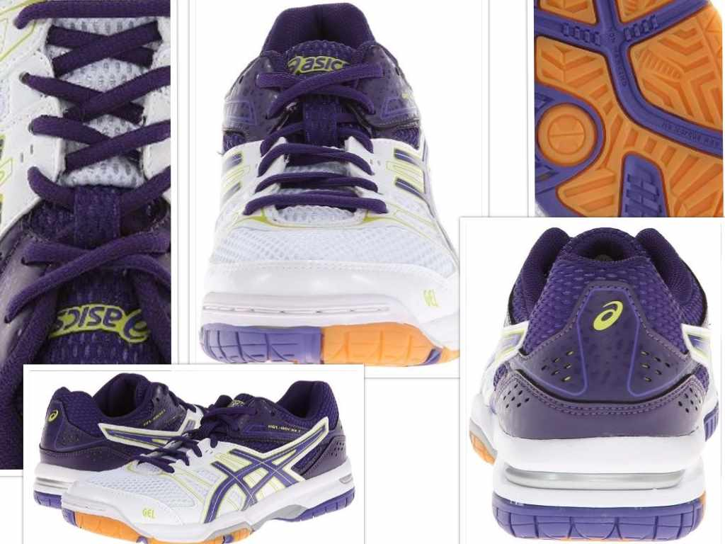 asics womens gel rocket 7 volley ball shoe collage