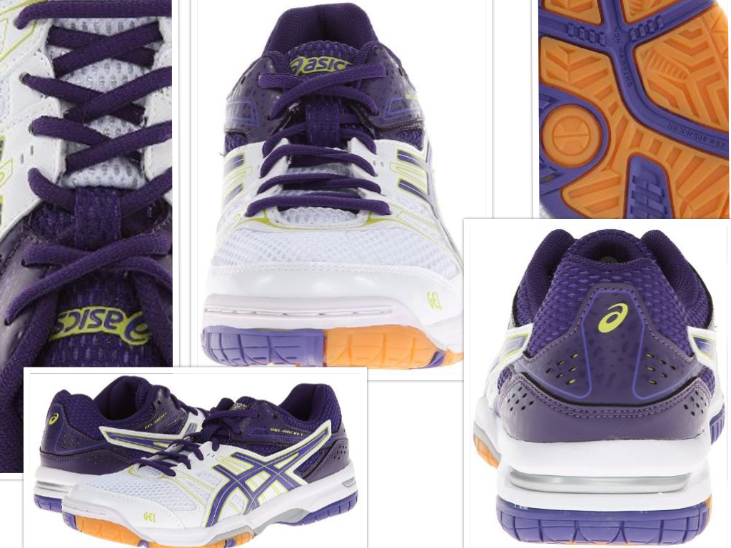ASICS Women's Gel Rocket 7 Volley Ball Shoe Collage
