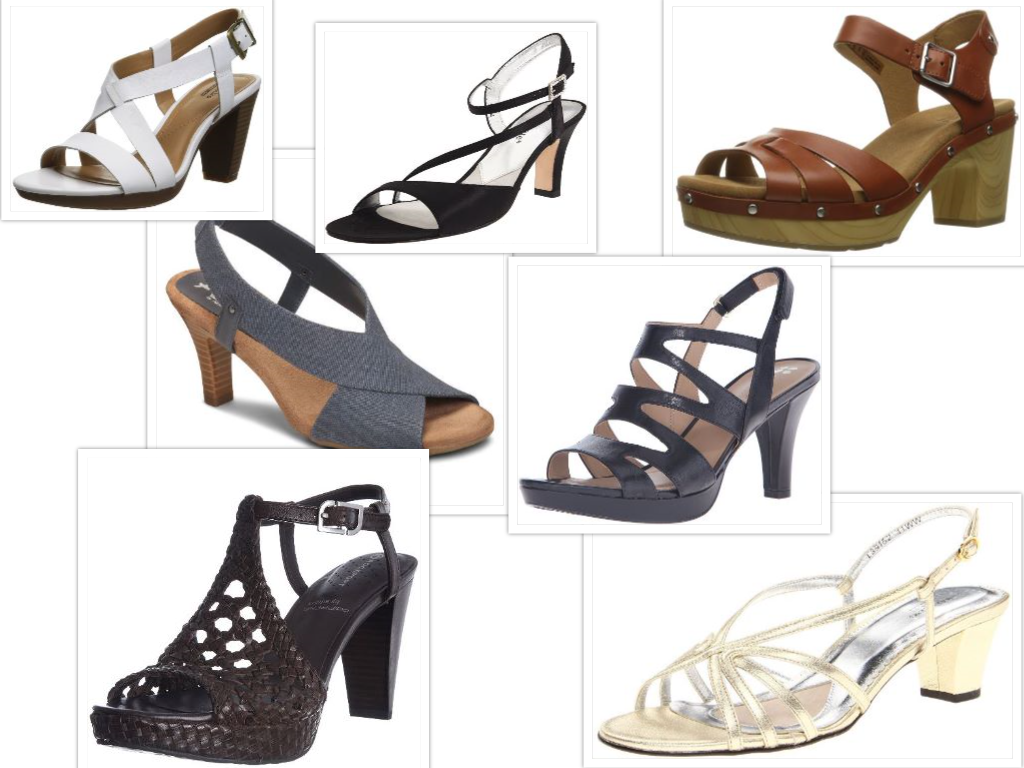 Best Comfortable High Heeled Sandals Collage