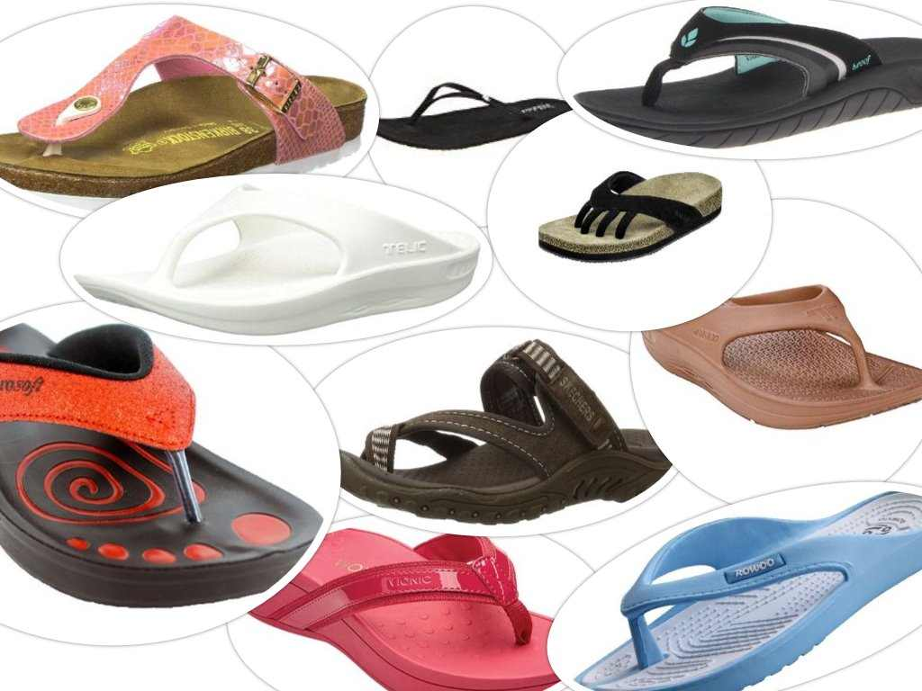best flip flop sandals collage