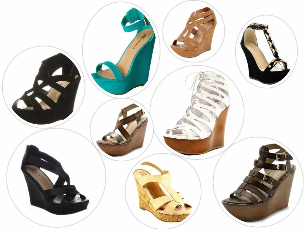 best high platform wedge sandals collage