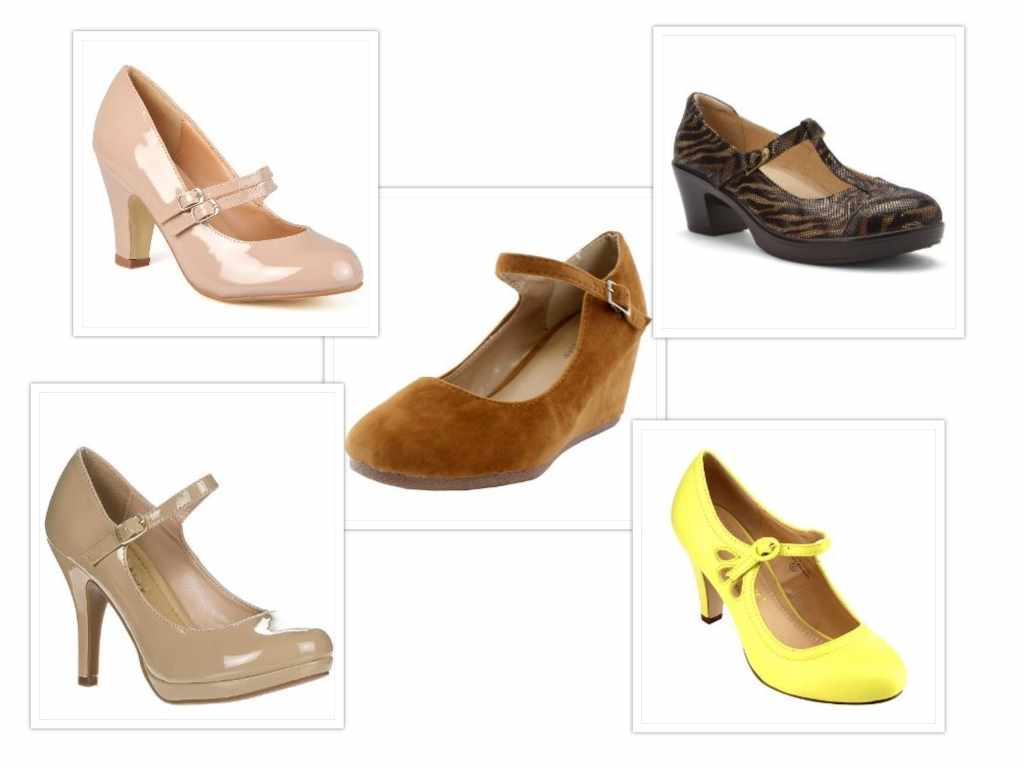 best mary jane pumps collage