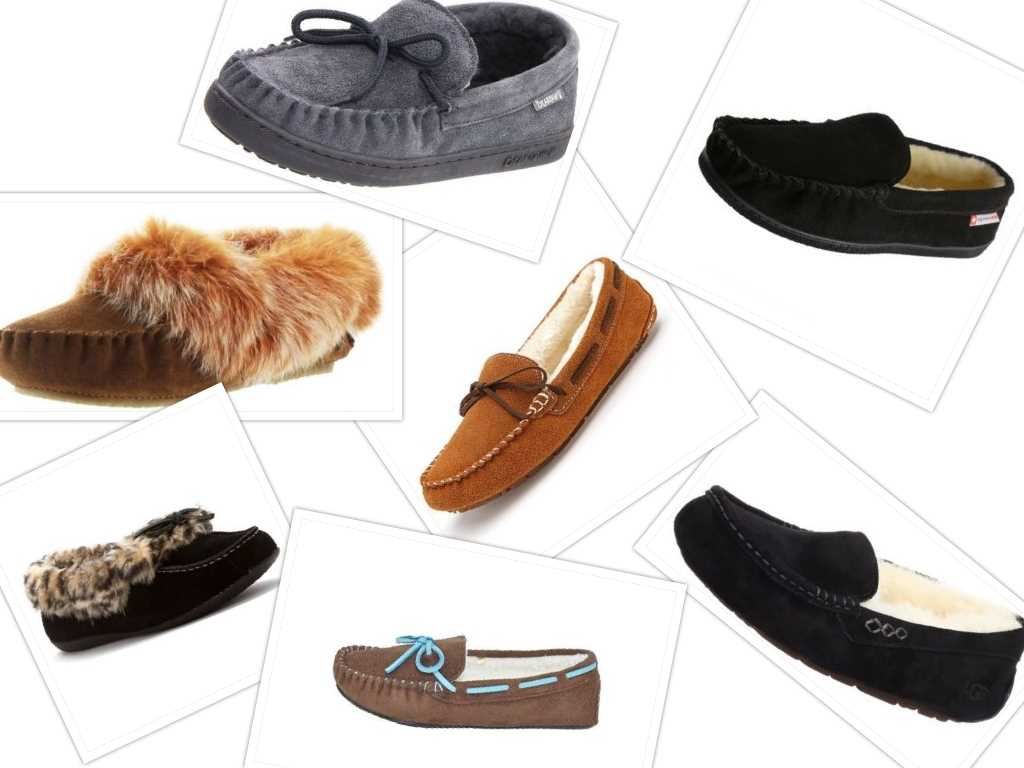 best moccasin house slippers collage