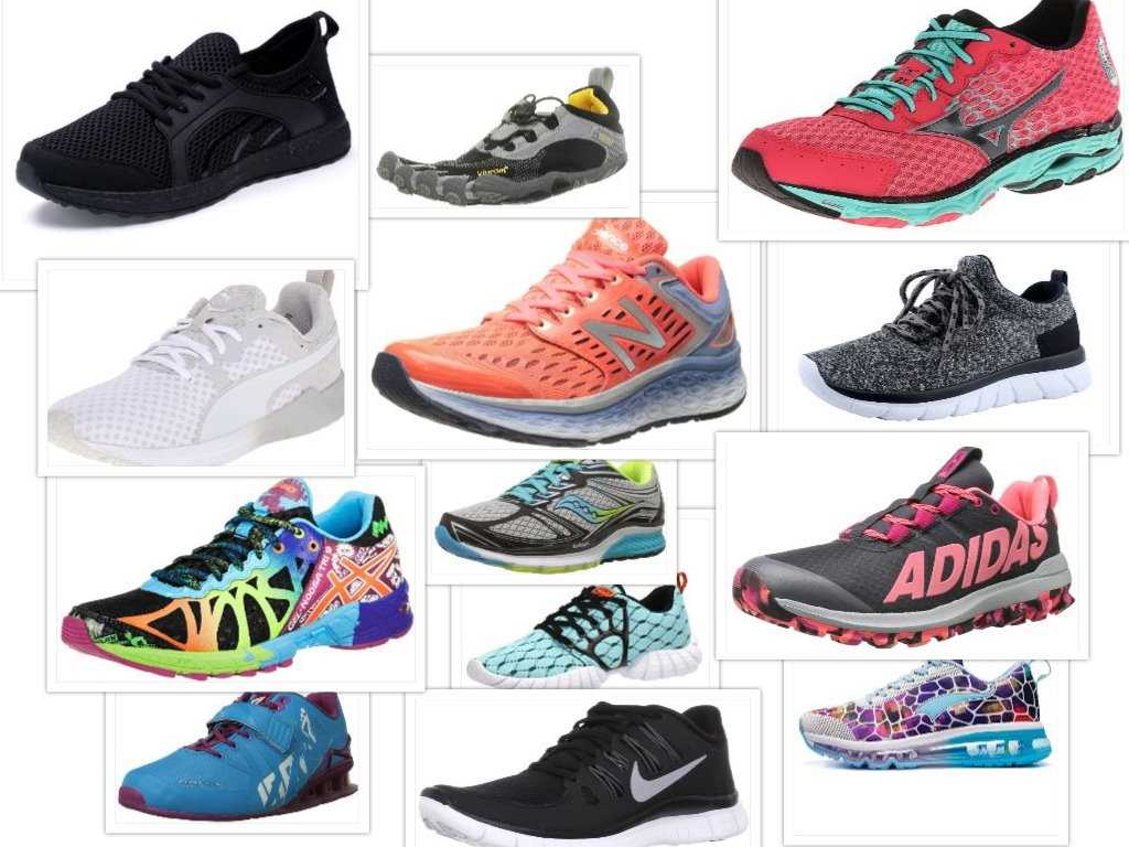 best running shoes collage