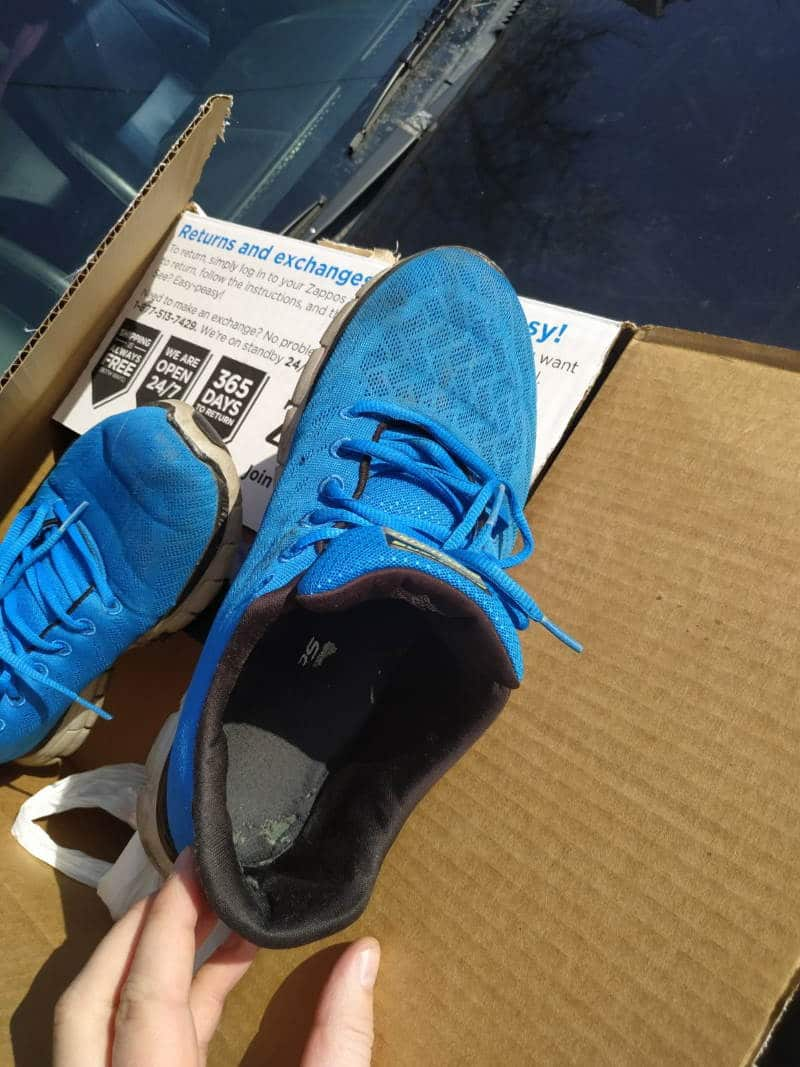 Used Blue Sneakers 4 years