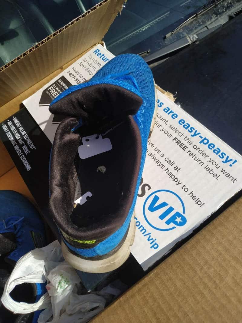 Used Blue Sneakers