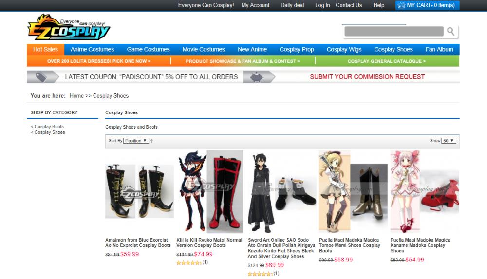 ezcosplay site page