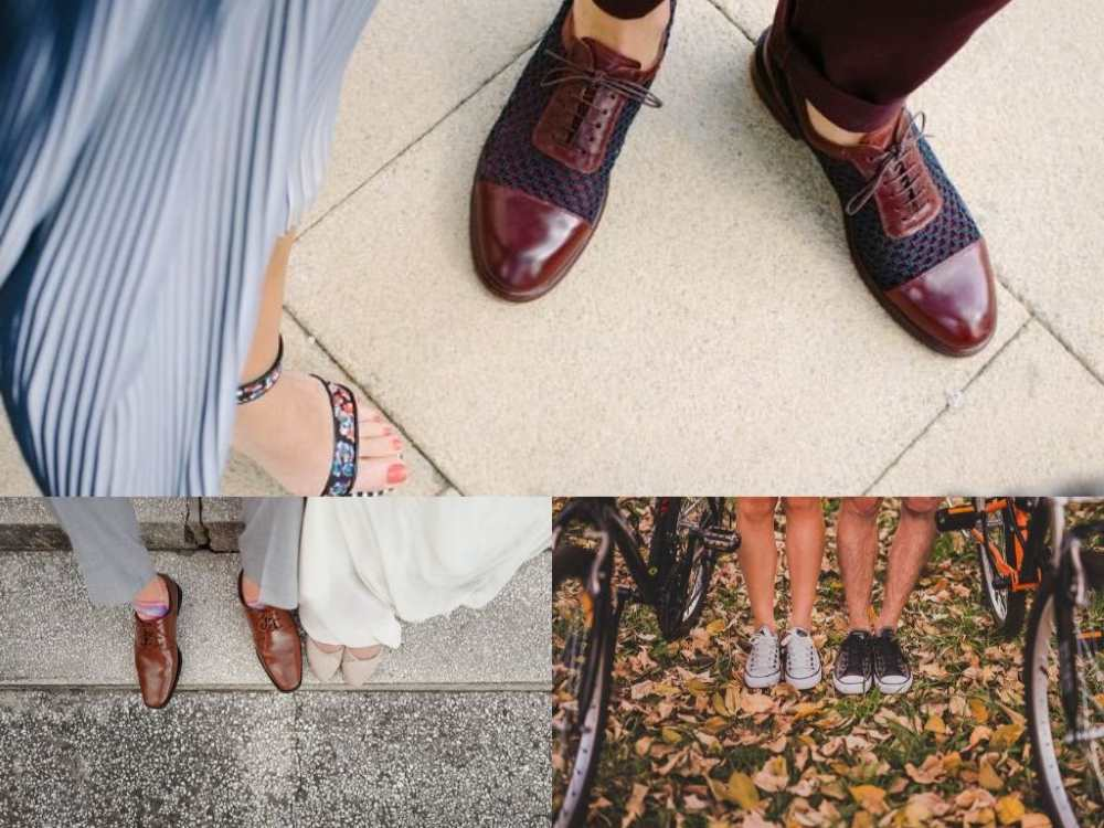 female male shoes collage