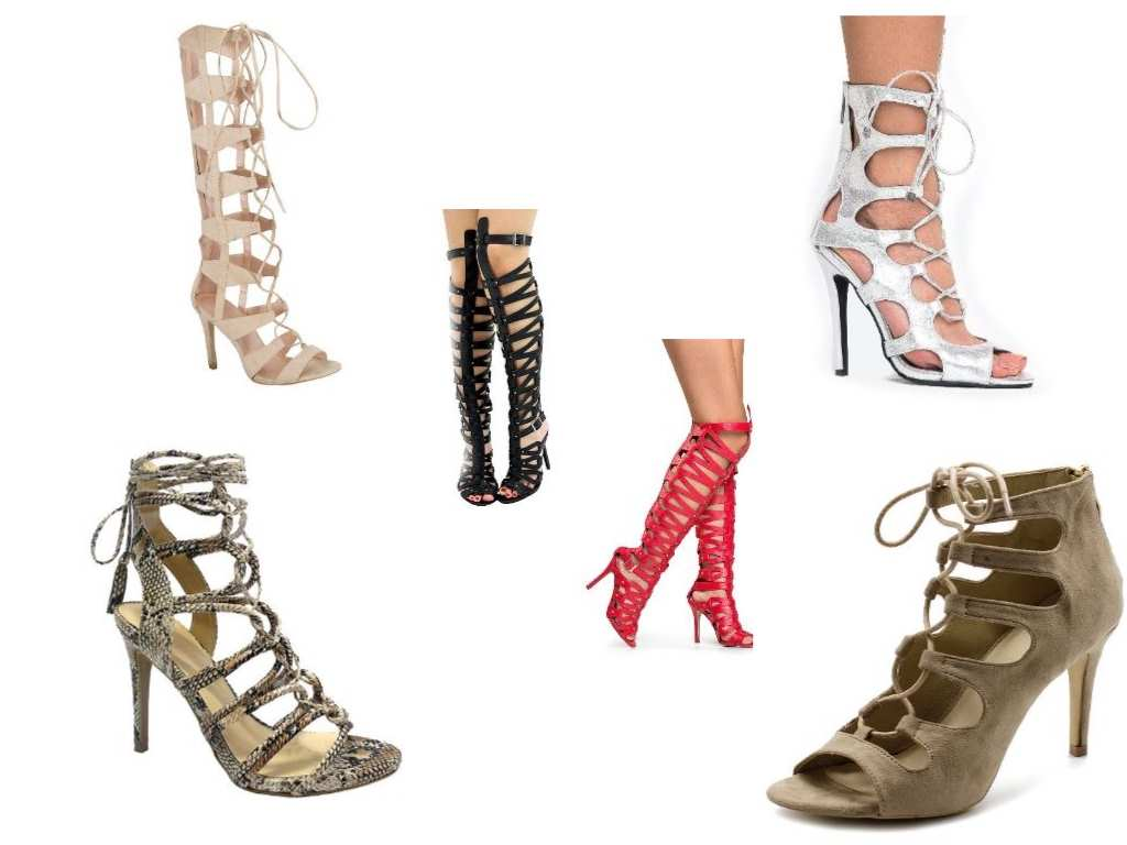gladiator sandals collage